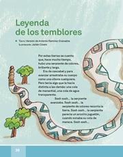 Libro Español libro de lectura tercero grado Página 36