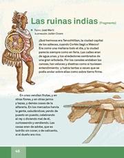 Libro Español libro de lectura tercero grado Página 46