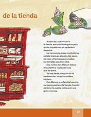 Libro Español libro de lectura tercero grado Página 57