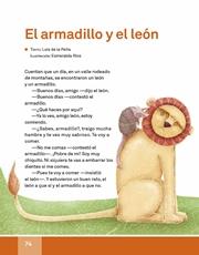 Libro Español libro de lectura tercero grado Página 74