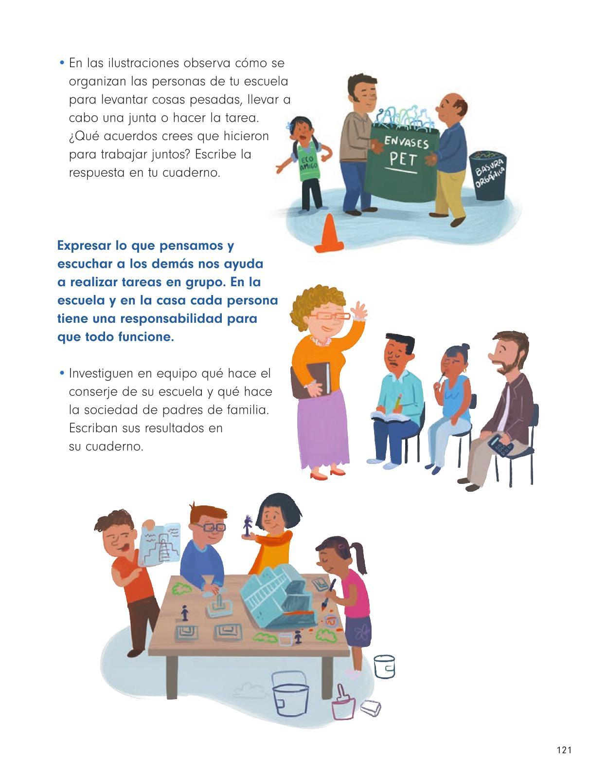 Formación Cívica y Ética Primer grado página 121