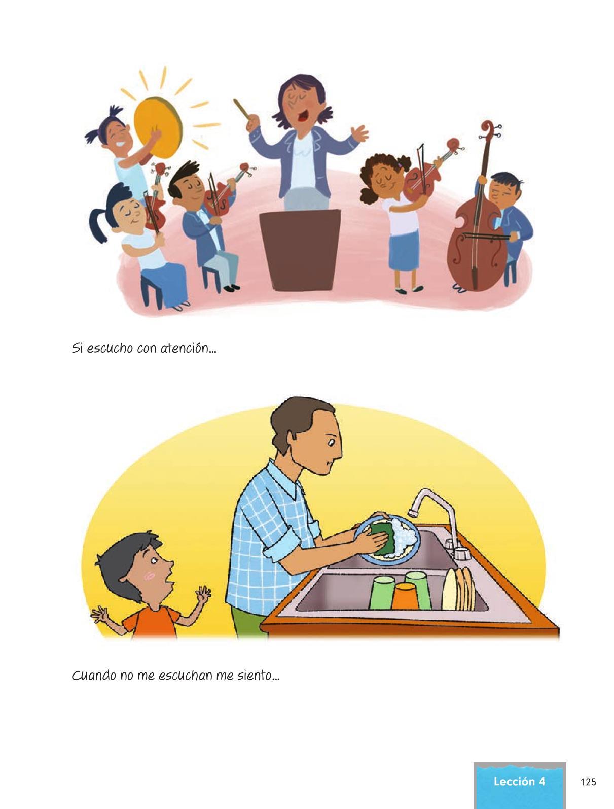 Formación Cívica y Ética Primer grado página 125