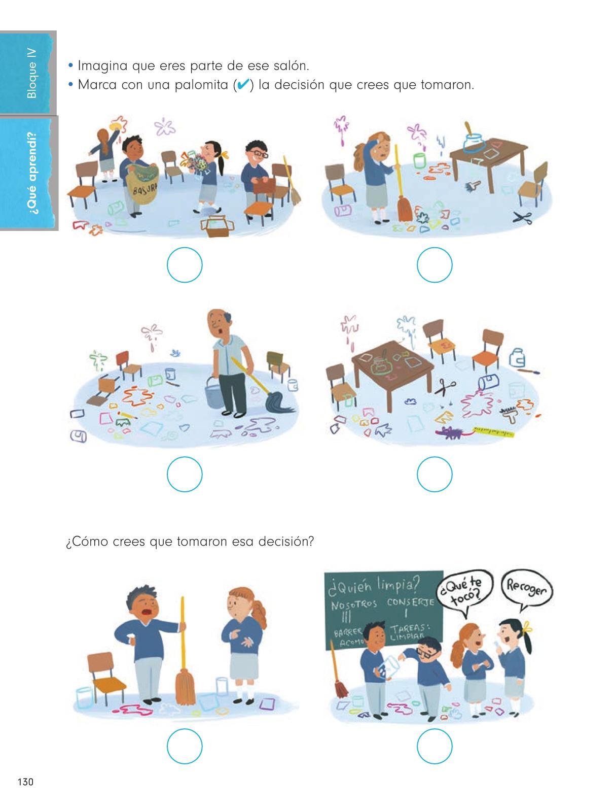 Formación Cívica y Ética Primer grado página 130