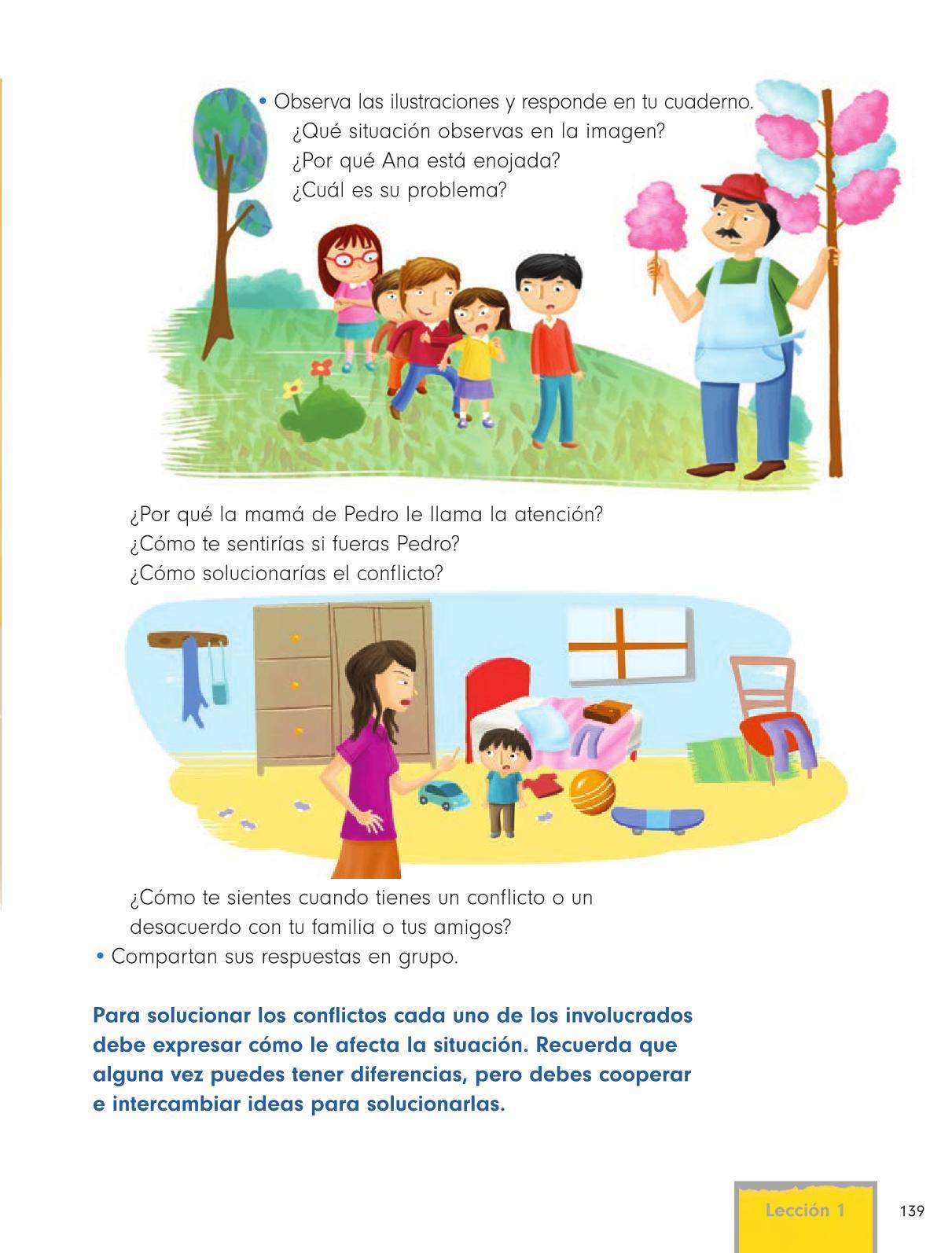 Formación Cívica y Ética Primer grado página 139