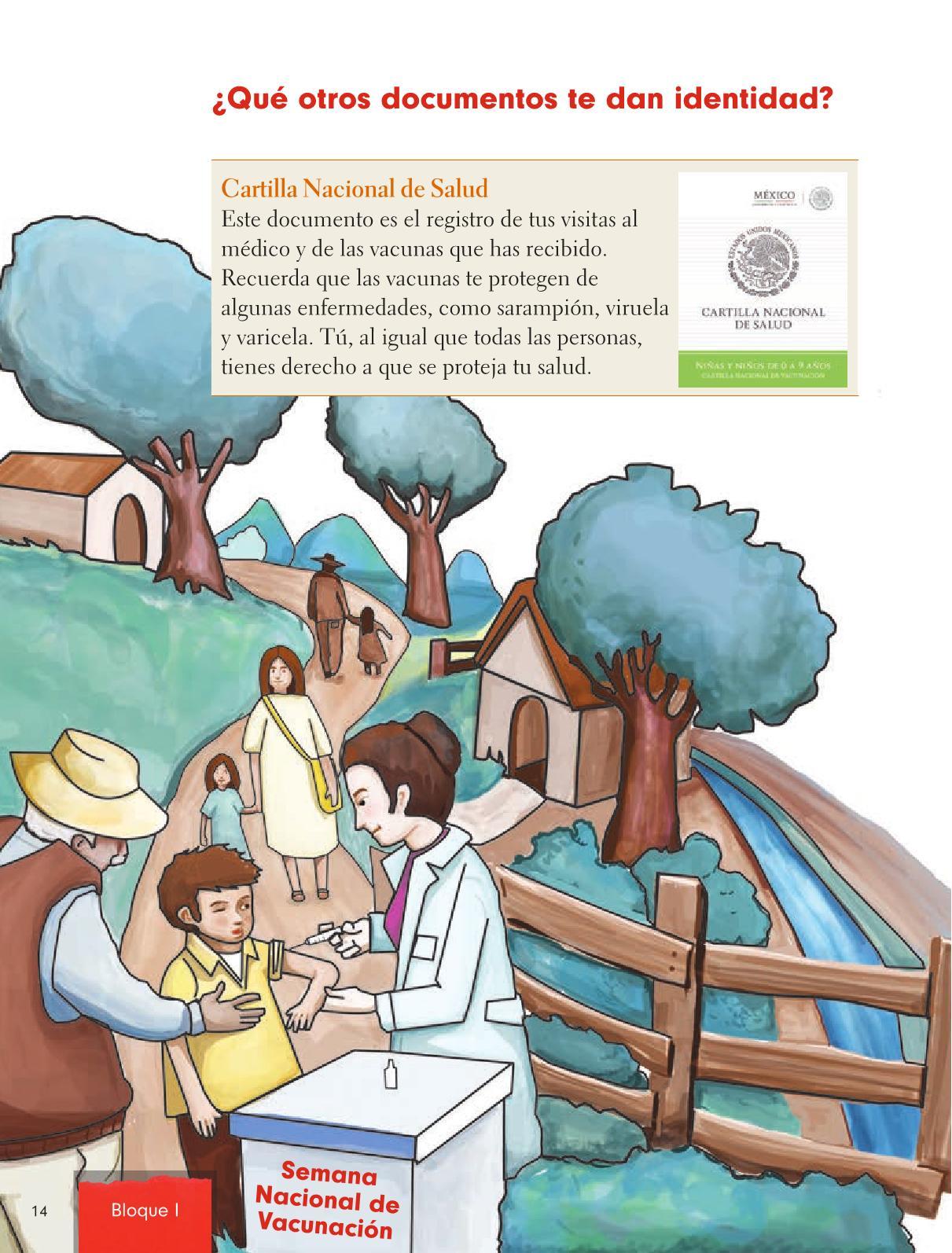Formación Cívica y Ética Primer grado página 14