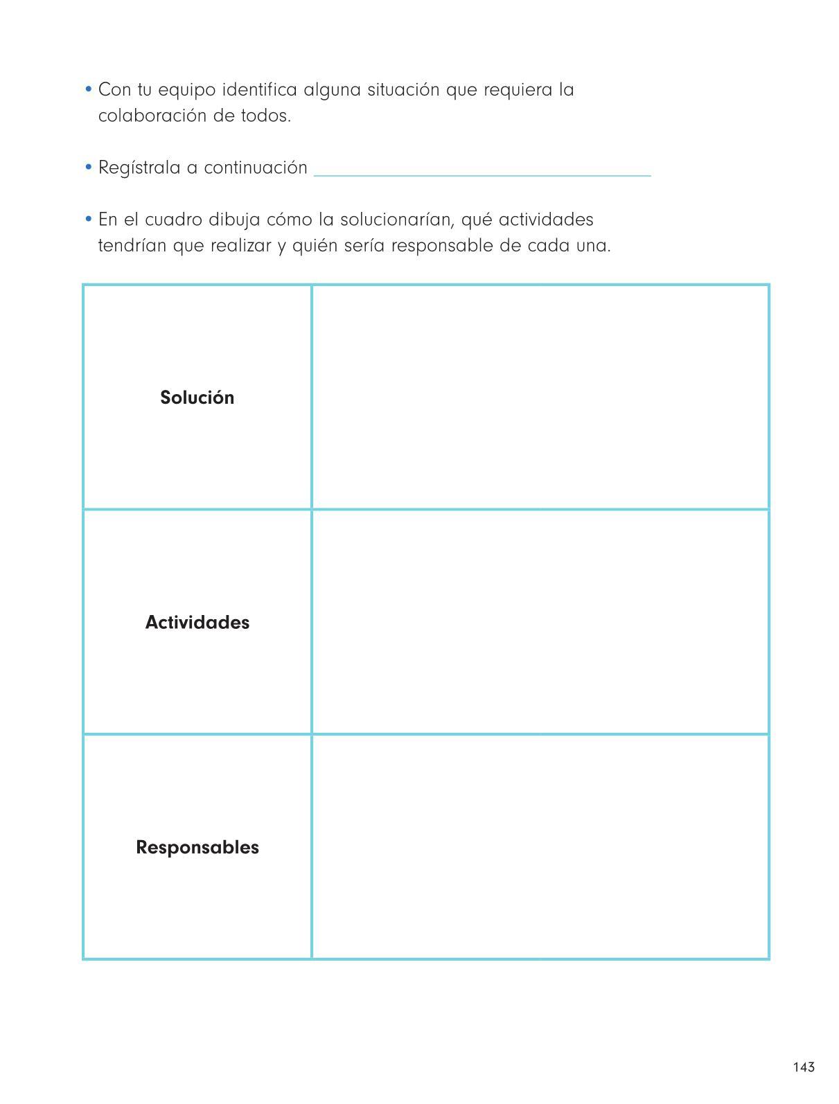 Formación Cívica y Ética Primer grado página 143