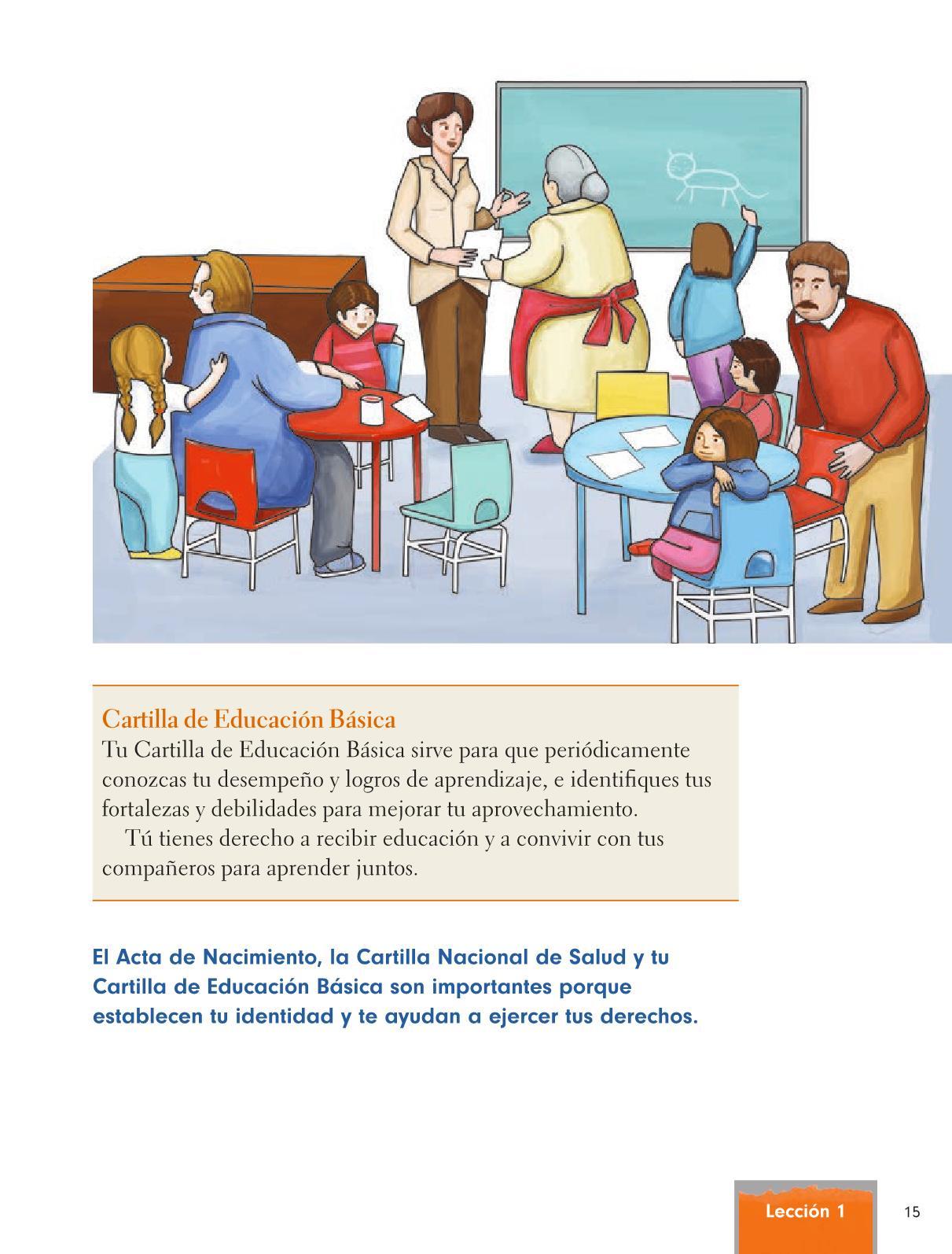 Formación Cívica y Ética Primer grado página 15