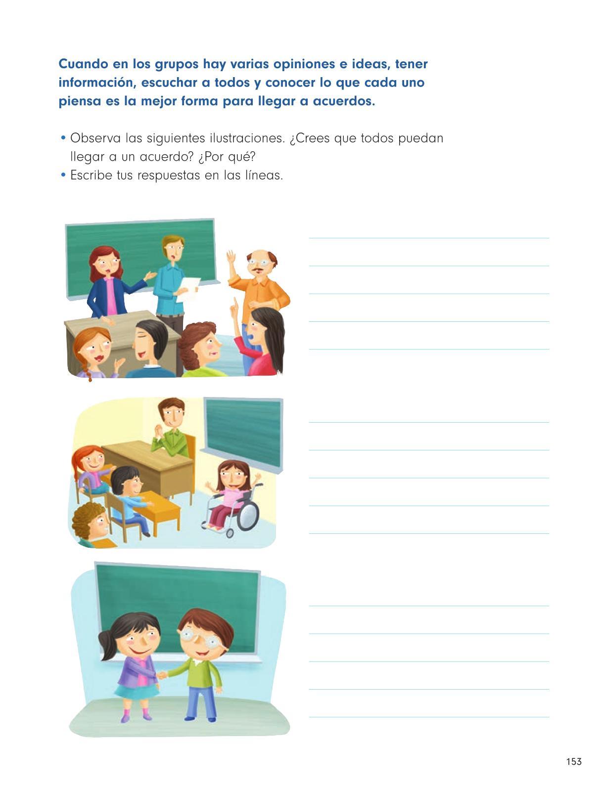 Formación Cívica y Ética Primer grado página 153
