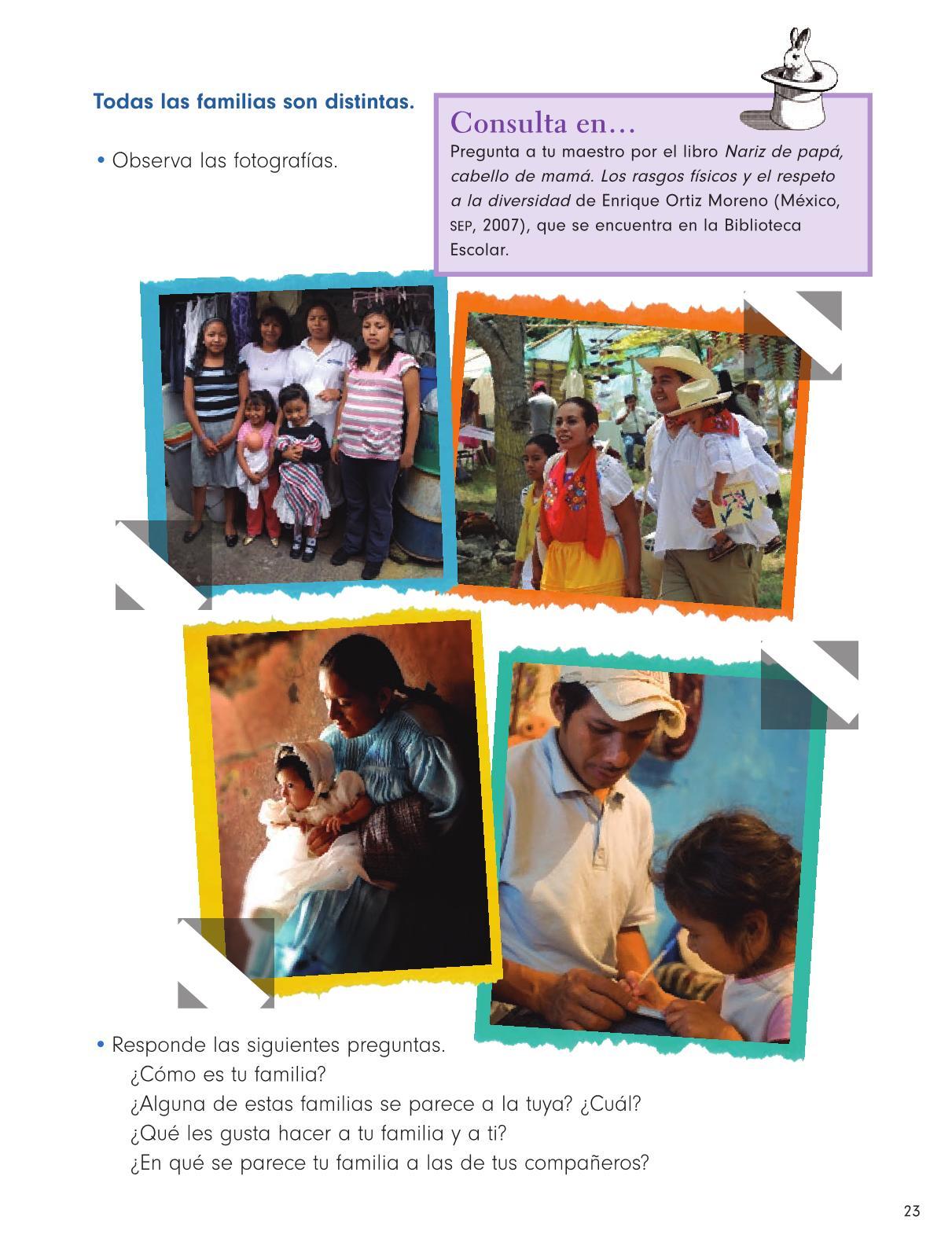 Formación Cívica y Ética Primer grado página 23