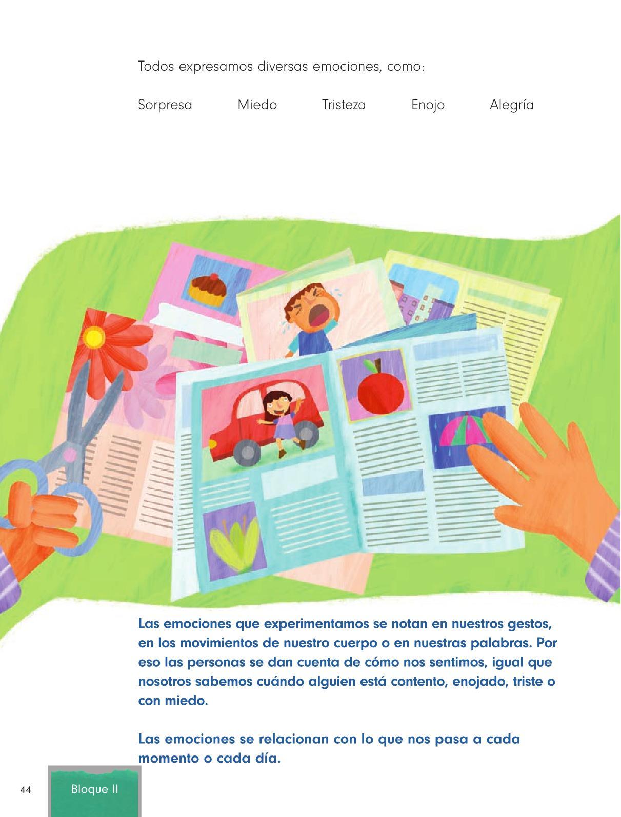Formación Cívica y Ética Primer grado página 44