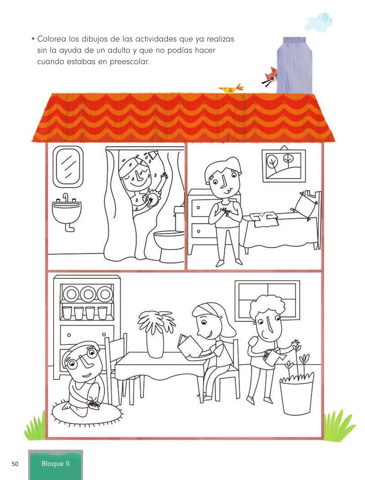 Formación Cívica y Ética Primer grado página 50