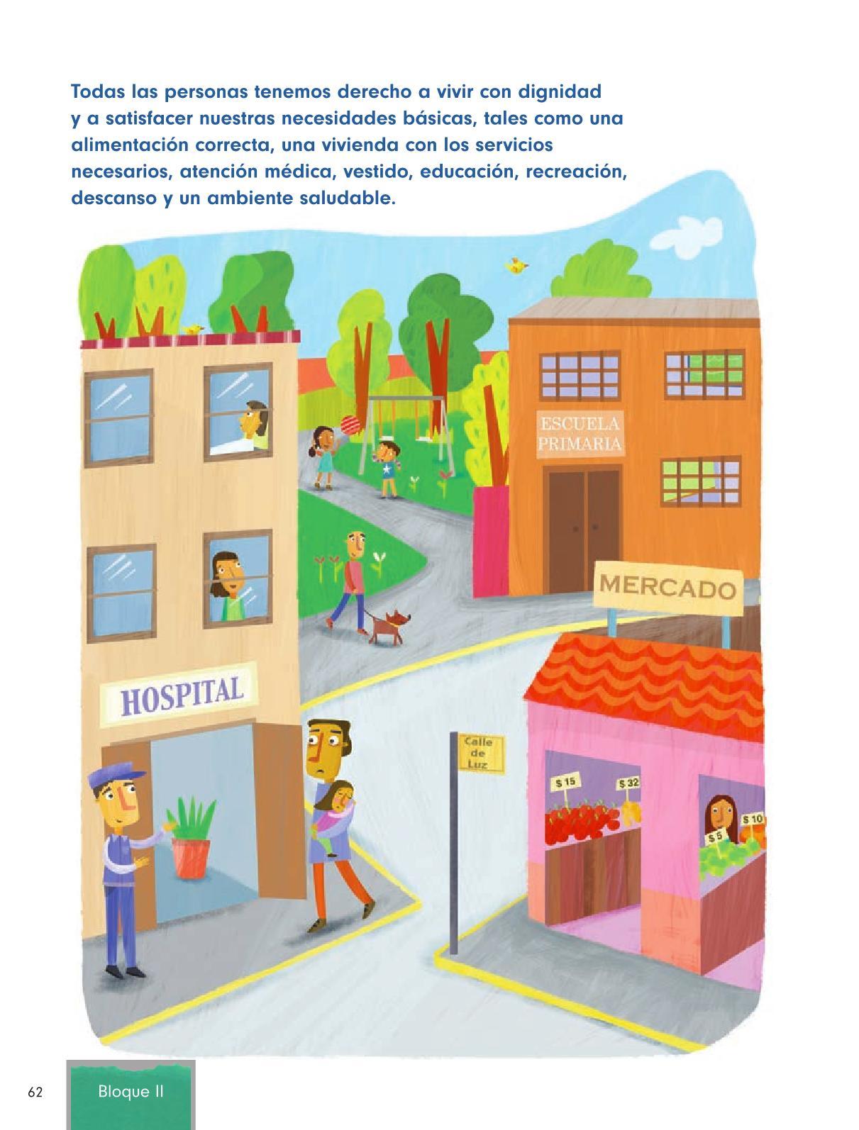 Formación Cívica y Ética Primer grado página 62