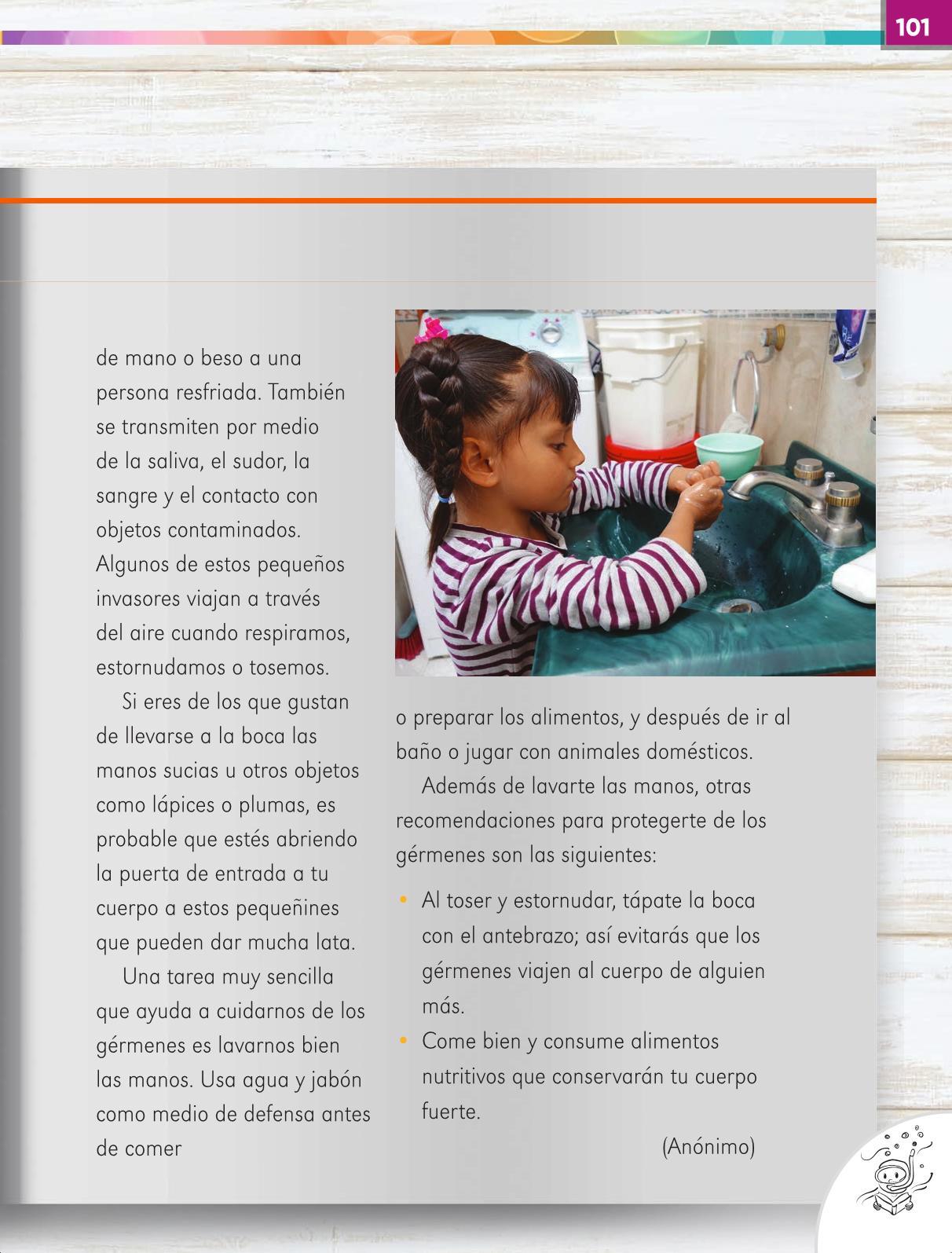Lengua Materna Español Primer grado página 101