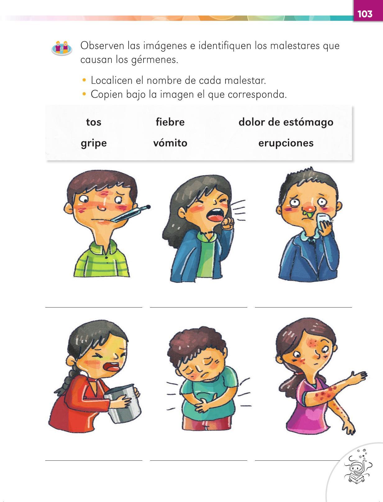 Lengua Materna Español Primer grado página 103