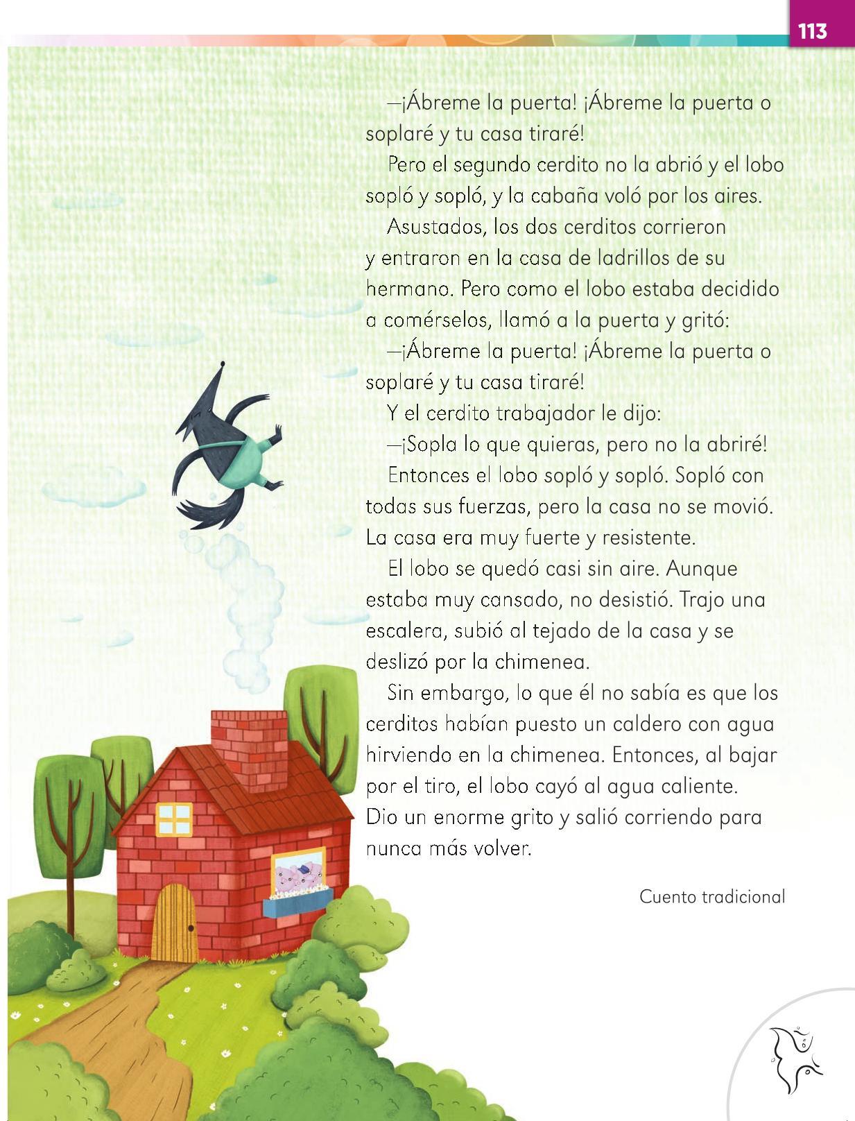 Lengua Materna Español Primer grado página 113