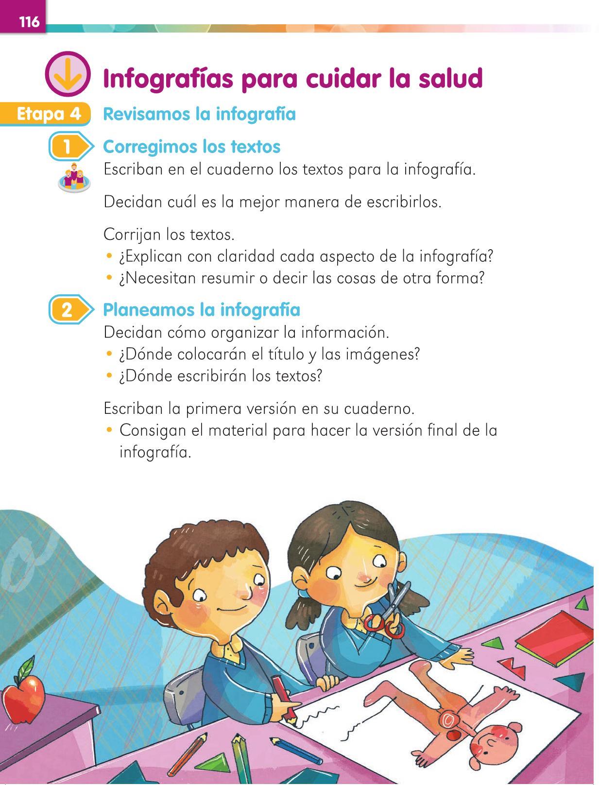 Lengua Materna Español Primer grado página 116