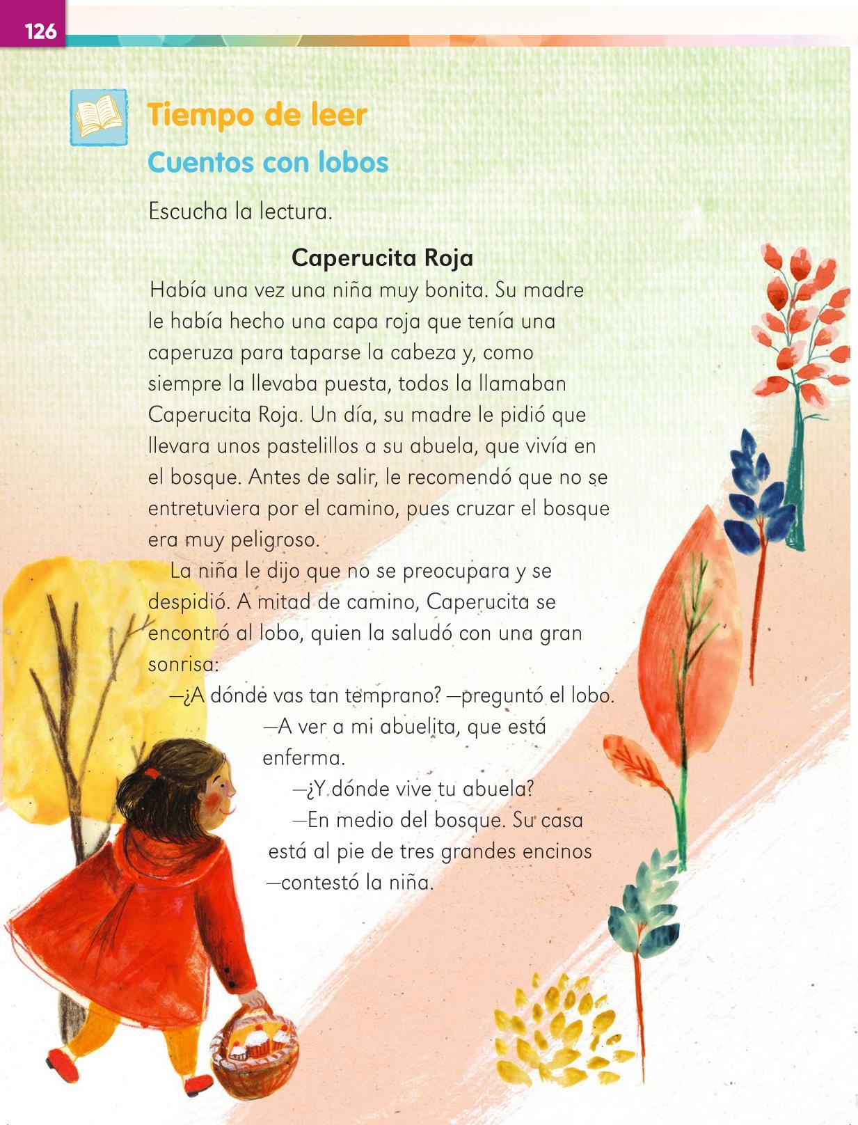 Lengua Materna Español Primer grado página 126