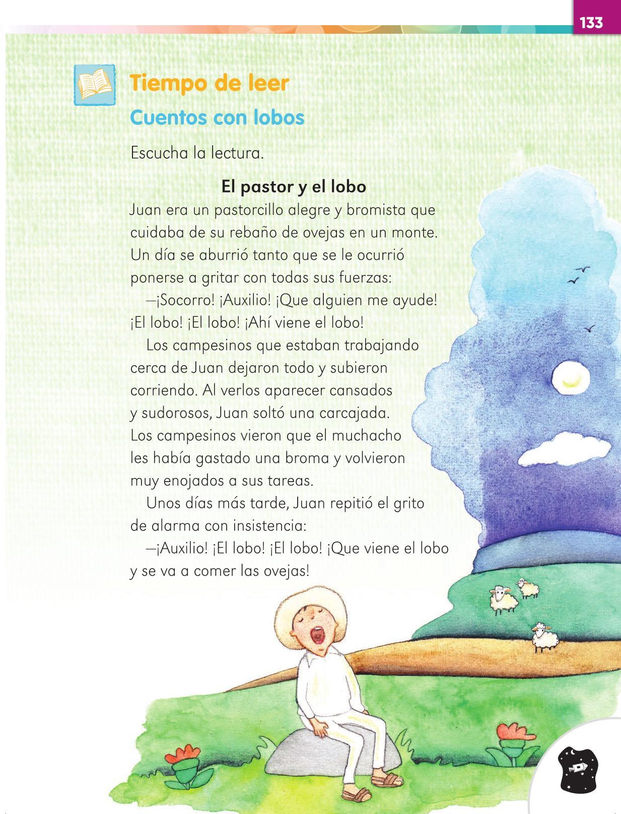 Lengua Materna Español Primer grado página 133