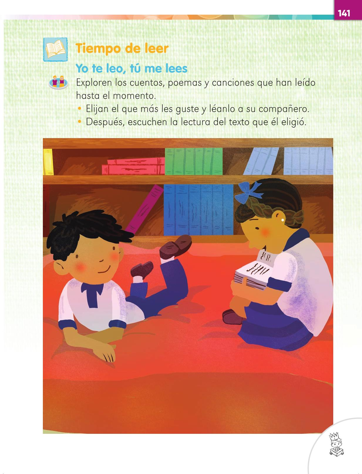 Lengua Materna Español Primer grado página 141