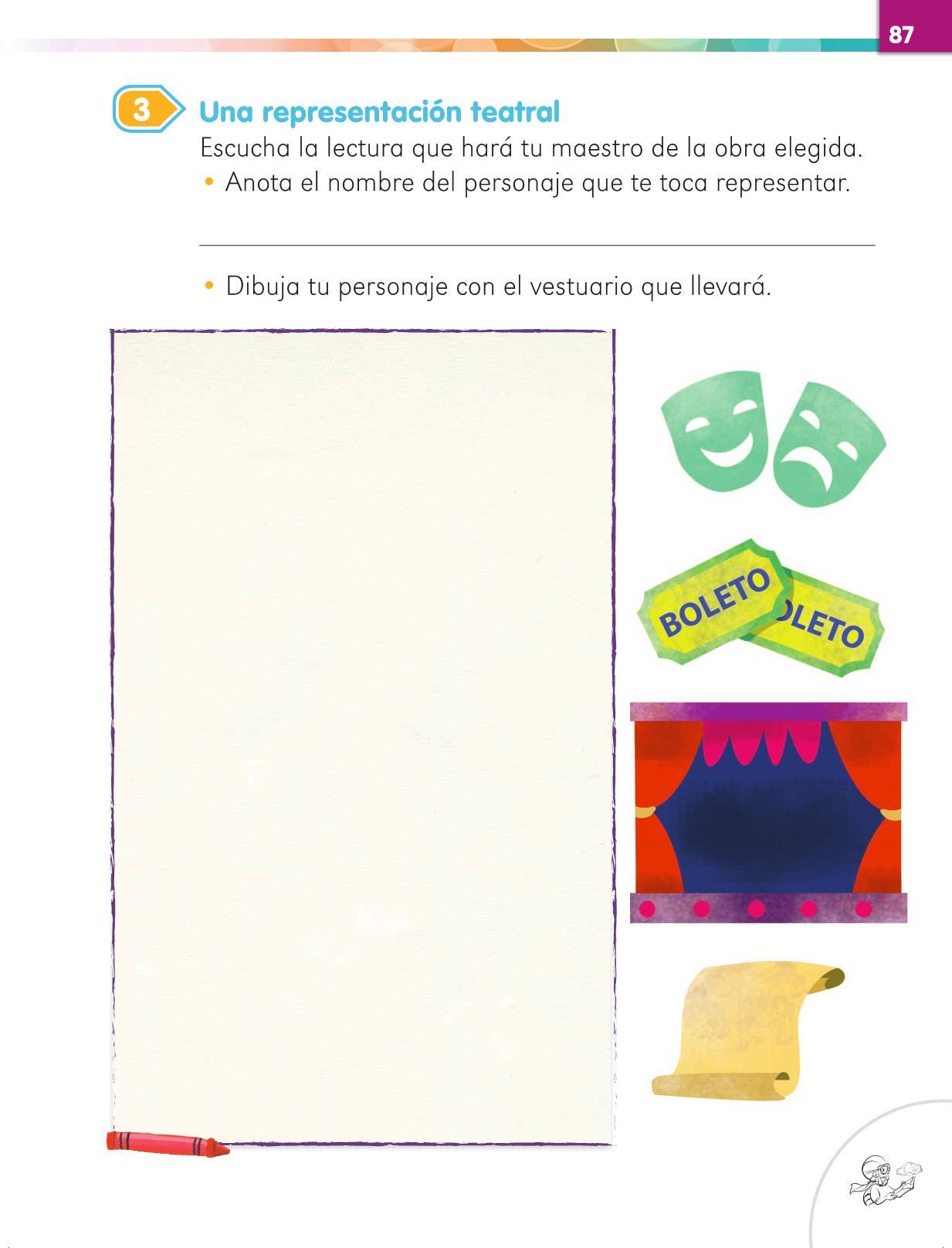 Lengua Materna Español Primer grado página 87