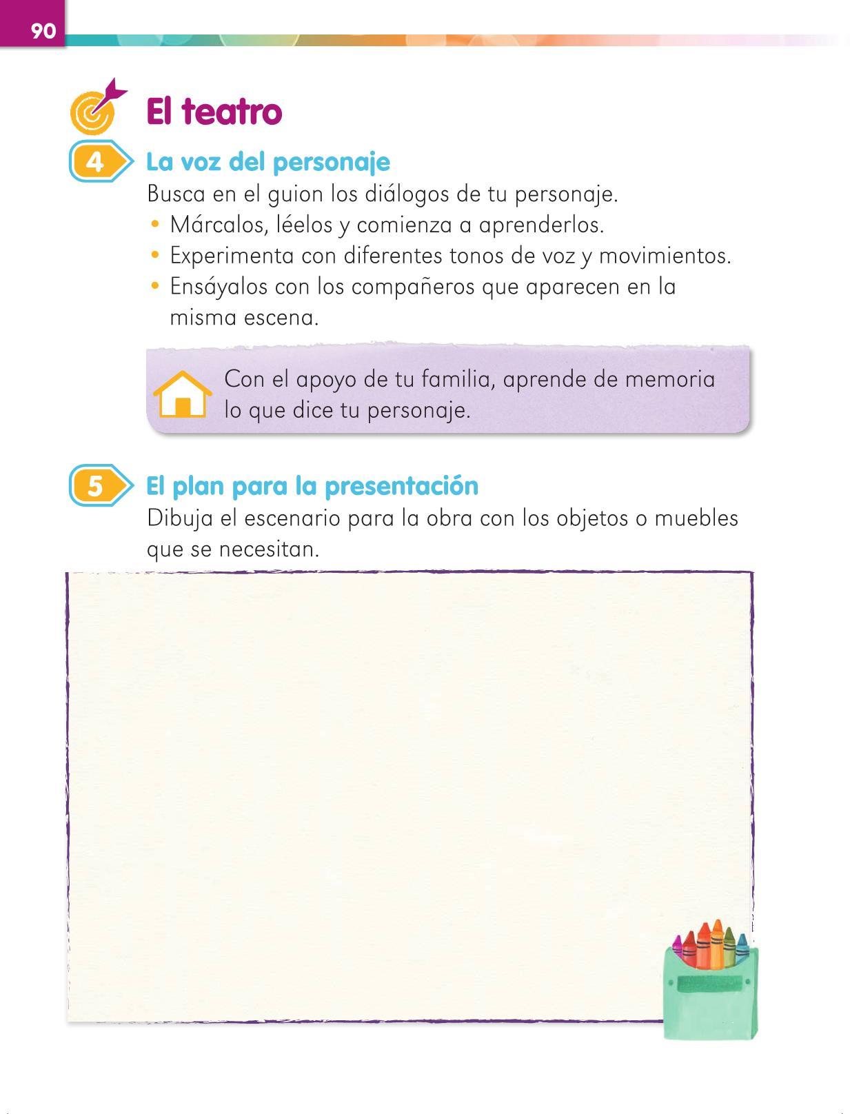 Lengua Materna Español Primer grado página 90