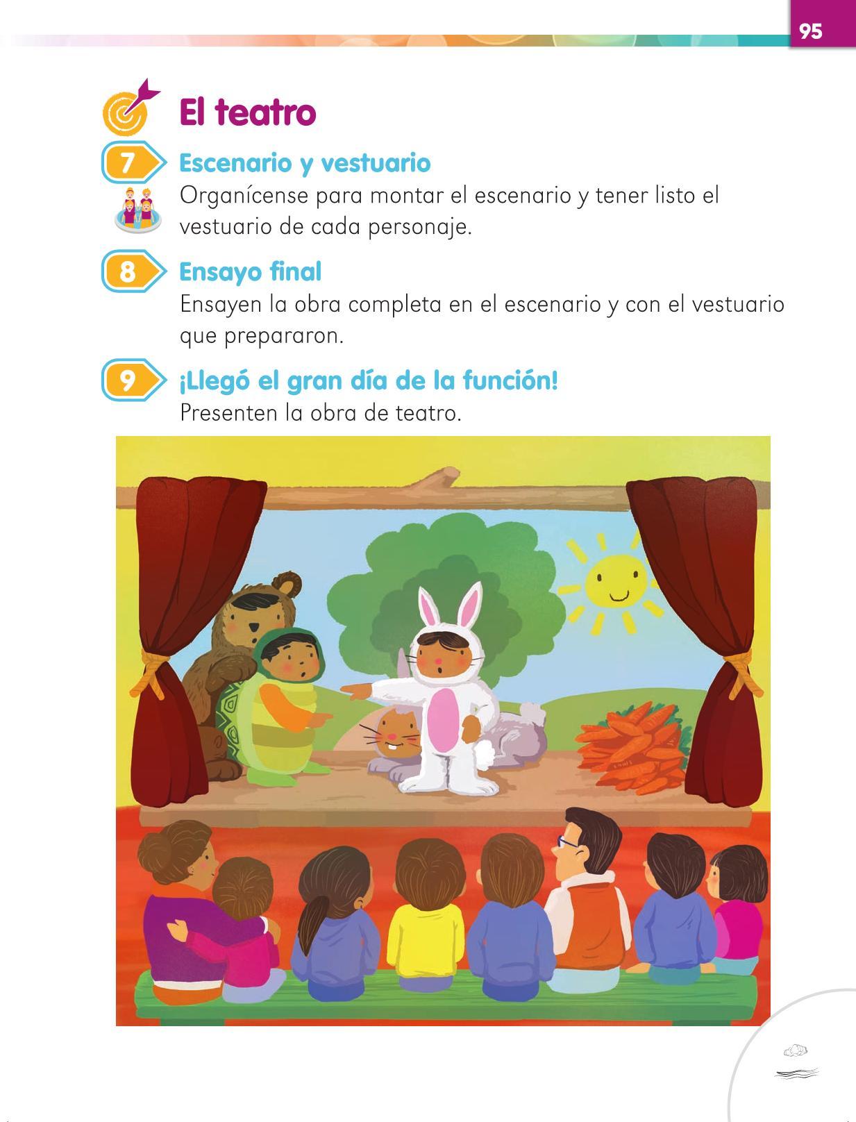 Lengua Materna Español Primer grado página 95