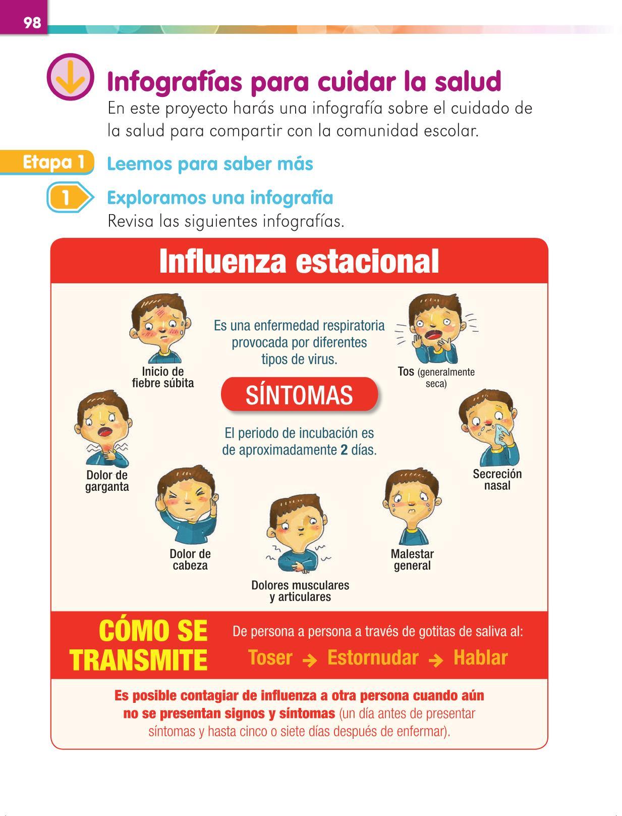 Lengua Materna Español Primer grado página 98